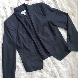 NWOT Ann Taylor LOFT navy gray blazer